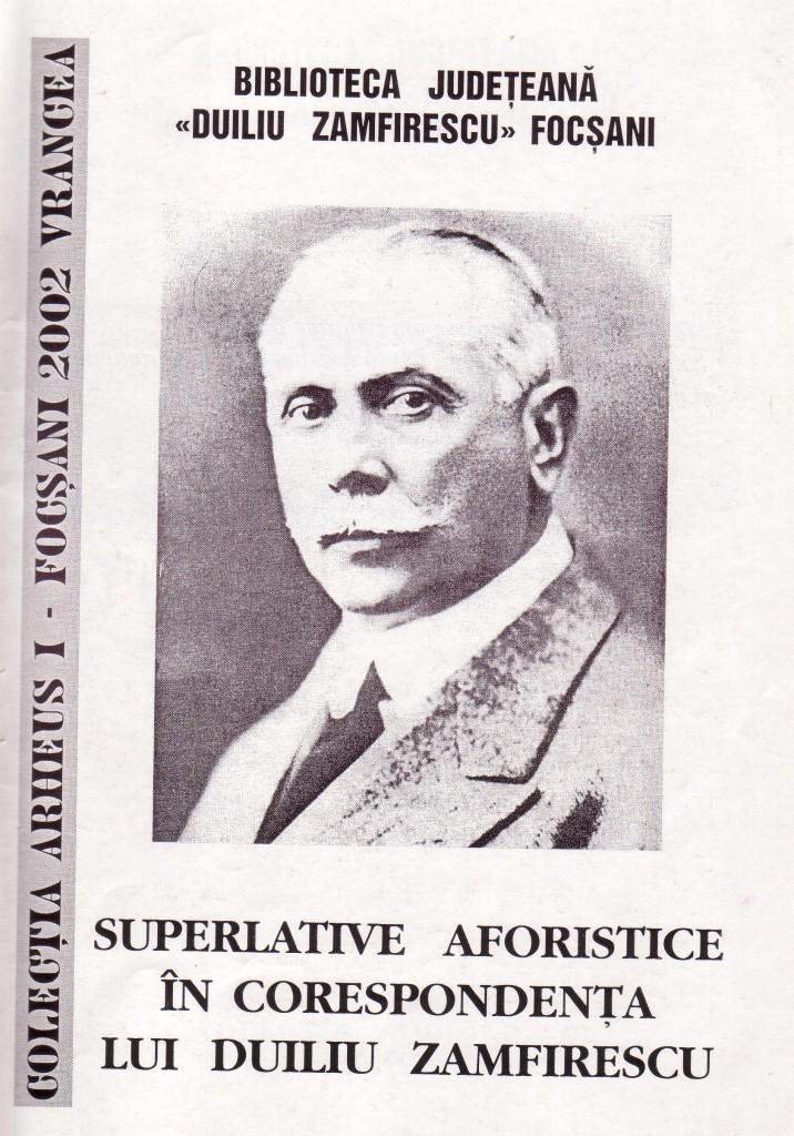 SUPERLATIVE AFORISTICE ÎN CORESPONDENŢA LUI DUILIU ZAMFIRESCU
