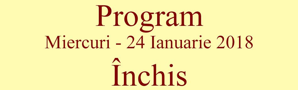 Program 24 ianuarie