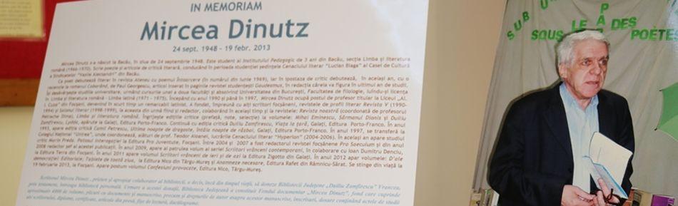 In memoriam, profesorul Mircea Dinutz