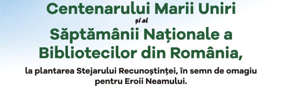 PARCUL 100 – Proiect lansat în Săptămâna Naţională a Bibliotecilor din România