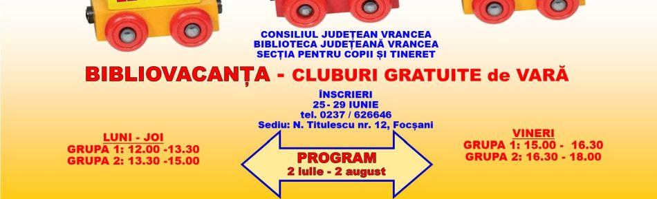 BIBLIOVACANȚA, ediția a X-a Cluburile gratuite de vacanță